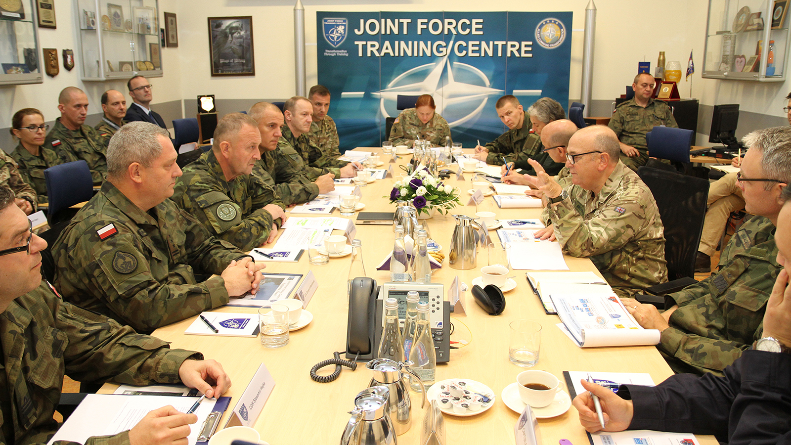 New Chairman of the Military Committee visits JFTC
