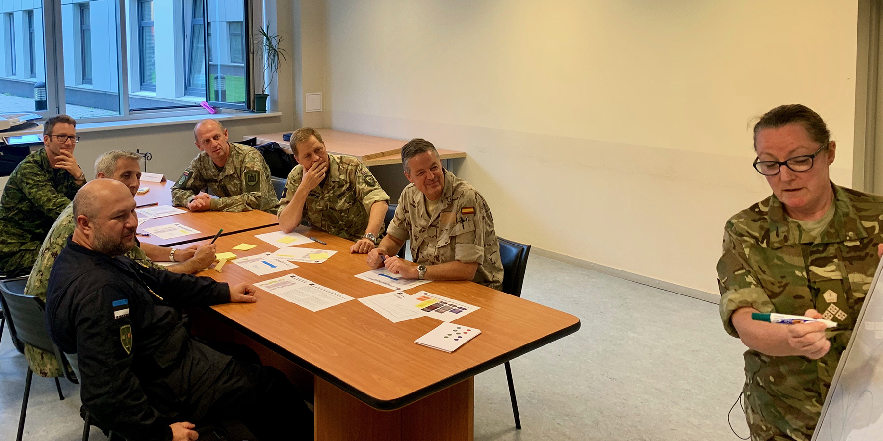 Senior Officers discussing plans in their syndicate room